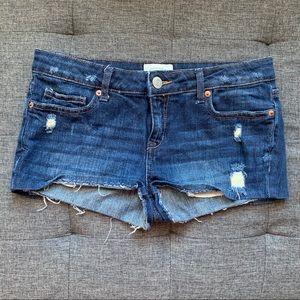 Aeropostale Cuffed Denim Shorts